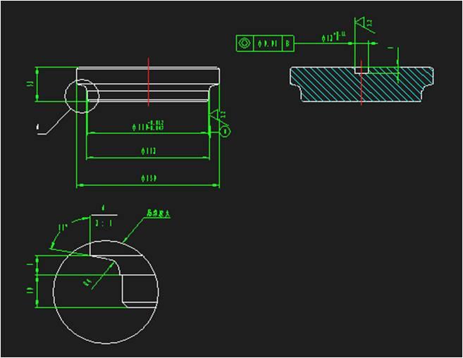 CAD局部放大视图的比例标注问题