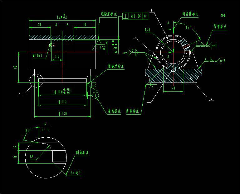 机械图纸符号大全图解