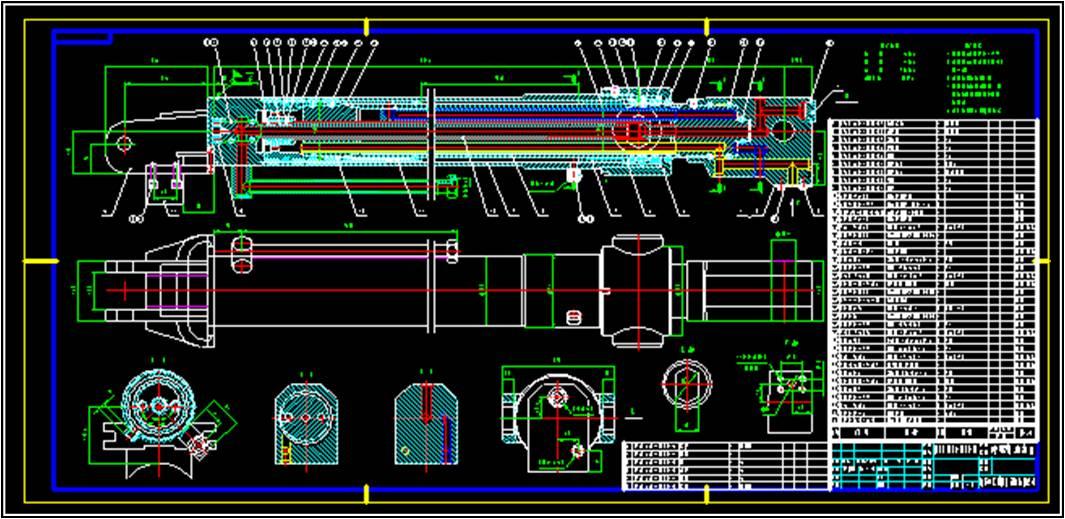程重型机械伸缩液压油缸图片